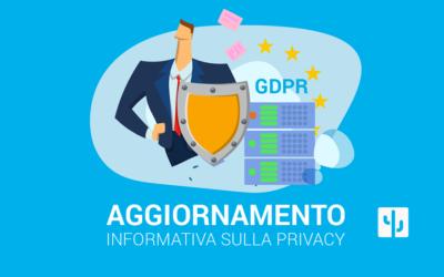 Aggiornamento informativa sulla privacy